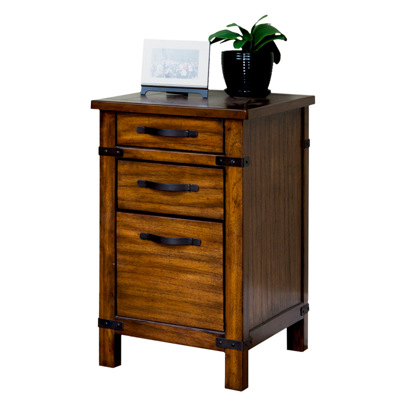 martin home furnishings point reyes 3 drawer wood file cabinet toasted pecan at hayneedle. Black Bedroom Furniture Sets. Home Design Ideas