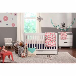 Babyletto Mercer 3 in 1 Convertible Crib Collection - Grey & White