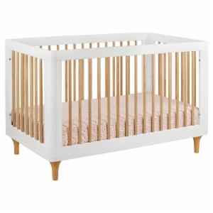 Babyletto Lolly 3-in-1 Convertible Crib- White and Natural