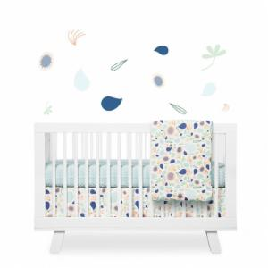 Babyletto Fleeting Flora Fitted Crib Sheet - Set of 2
