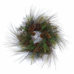 24-in. Pinecone Berry Wreath