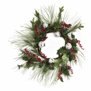Melrose International 24 in. Berry and Ball Wreath