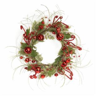Melrose International 24 in. Bell Glitter Wreath