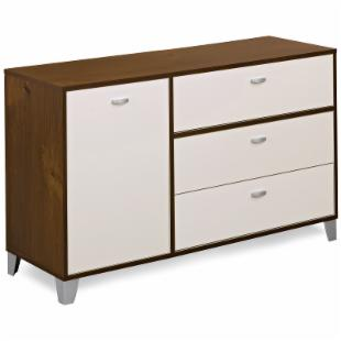 Topolino Truffle & Ivory 4 Drawer Double Chest