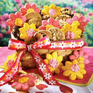 Mrs. Fields® Bakery Fresh Bouquet Gift Basket