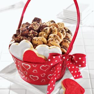 Mrs. Field&#39;s Dancing Hearts Gift Basket