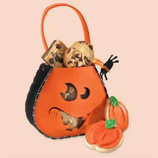 Mrs. Field's Smiling Pumpkin Satchel Cookie Gift Set