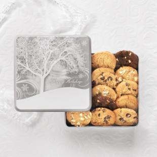 Mrs. Fields Winter Flurry Cookie Tin