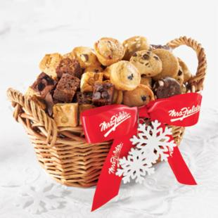 Mrs. Fields Delectable Bites Holiday Baskets