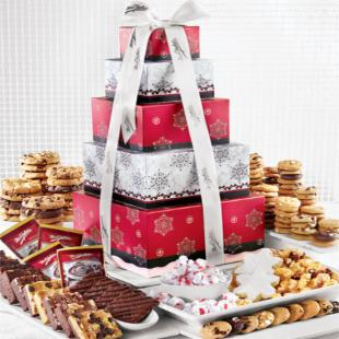 Mrs. Fields Nordic Bundle of Treats Holiday Gift Tower