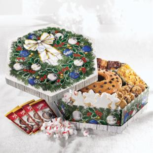 Mrs. Fields Winter Welcome Wreath Gift Box