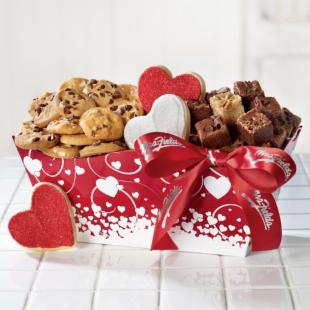 Mrs. Fields Dancing Hearts Tray Gift Box