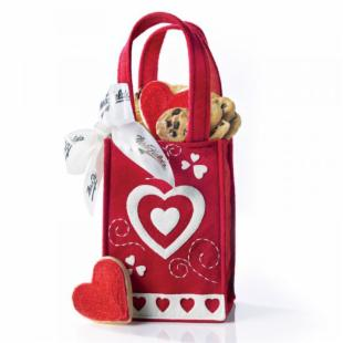 Mrs. Fields Loveable Heart Tote