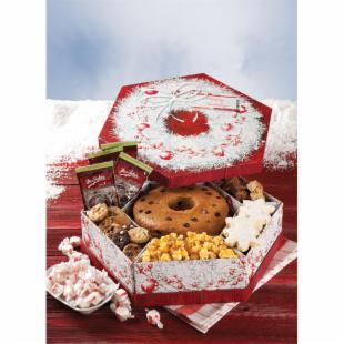 Mrs. Fields Happy Holidays Wreath Gift Box