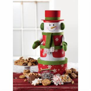 Mrs. Fields Ultimate Snowman Holiday Gift Tower