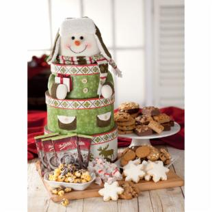 Mrs. Fields Bundled Snowman Holiday Gift Tower