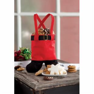 Mrs. Fields Santa's Suspenders Gift Tote