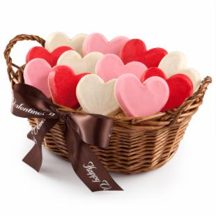 Mrs. Fields Valentine&#39;s Hand-Frosted Cookie Basket