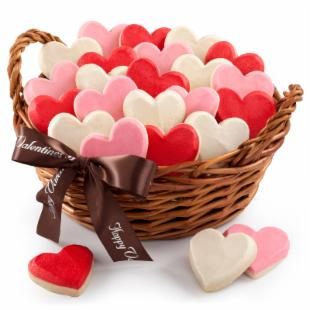 Mrs. Fields Deluxe Valentine&#39;s Hand-Frosted Cookie Basket