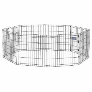 Midwest Black Exercise Pen without Door