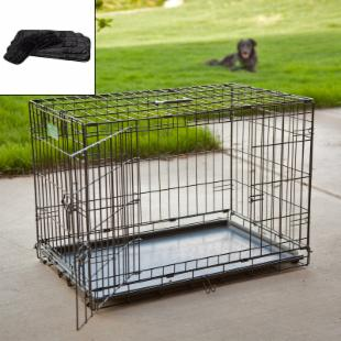 Midwest iCrate Folding Double Door Dog Crate with Free Mat