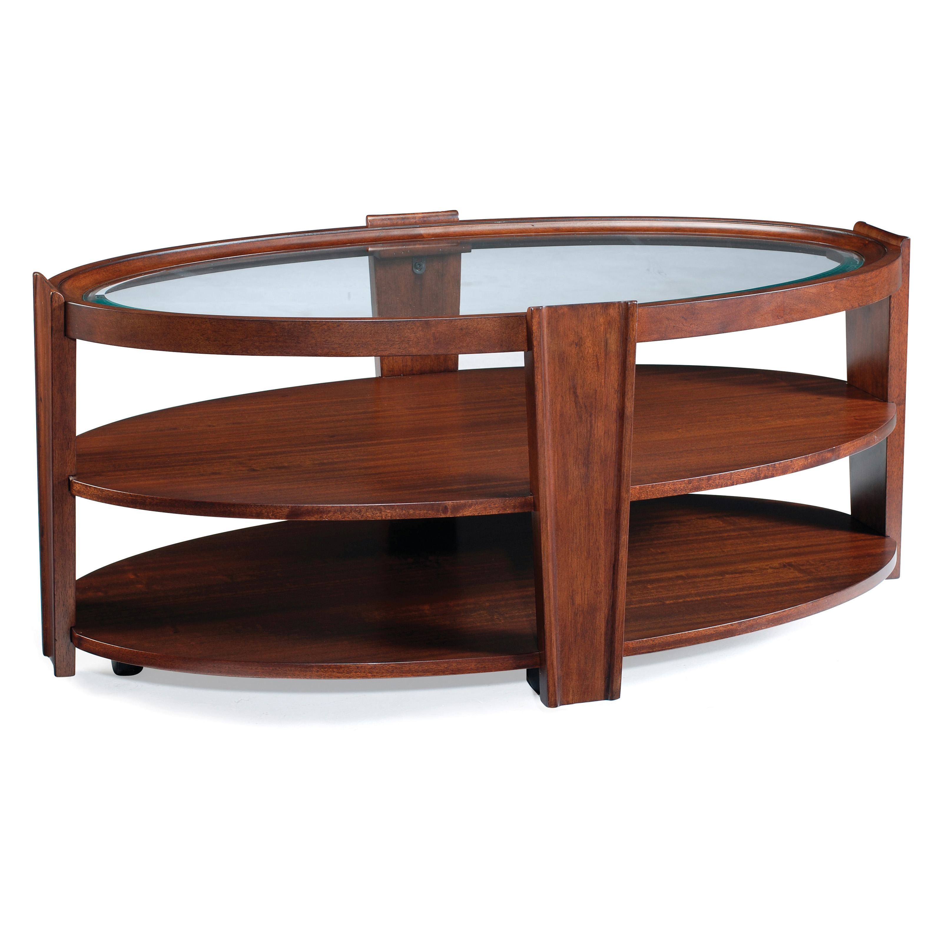 Magnussen T1559 Nuvo Wood Oval Coffee Table At Hayneedle