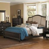 Moreau Wood Upholstered Panel Bed