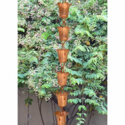 Monarch 3-Foot Copper Tulip Rain Chain Extension
