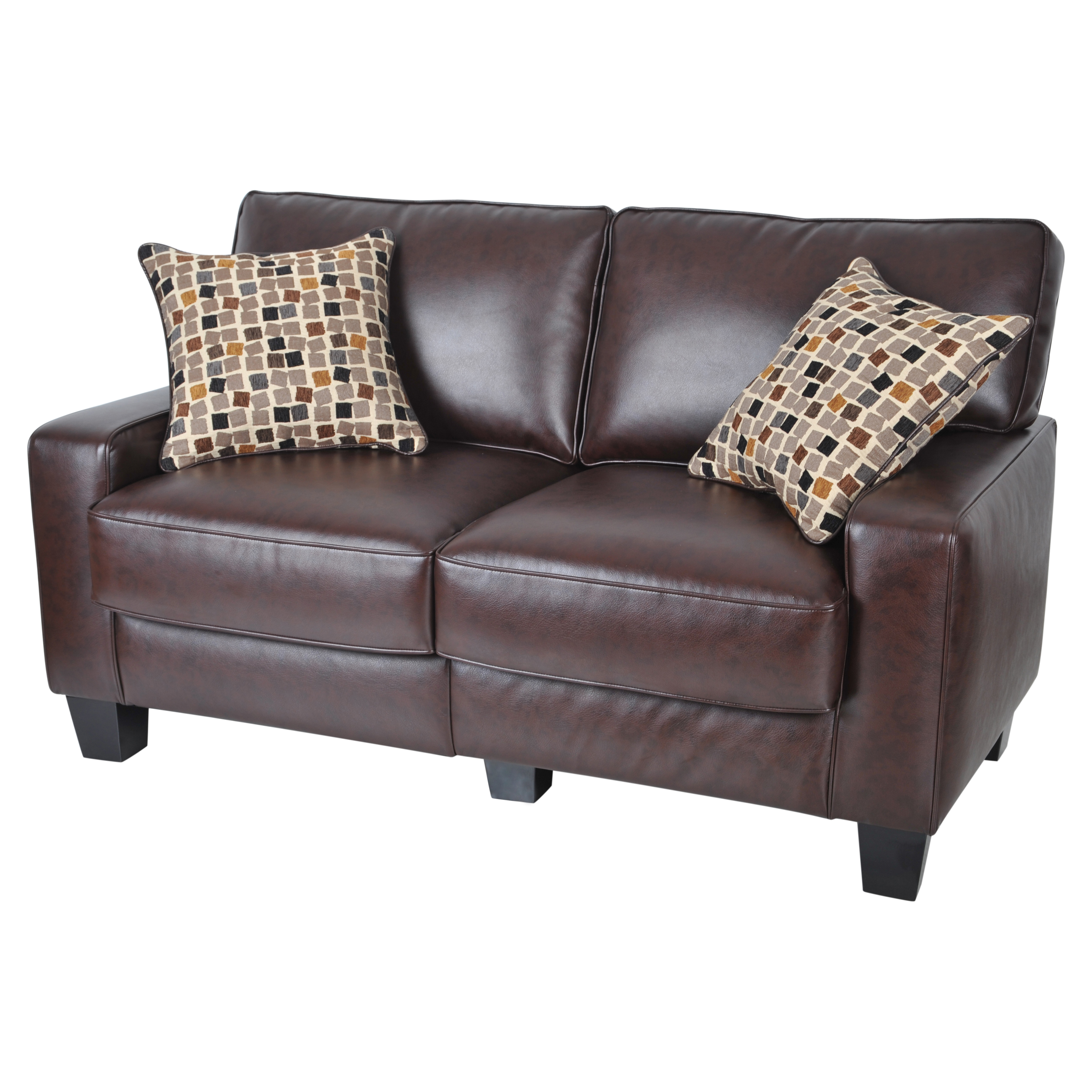 Leather Furniture Traveler Collection: Serta RTA Monaco Collection 60-in. Leather Sofa