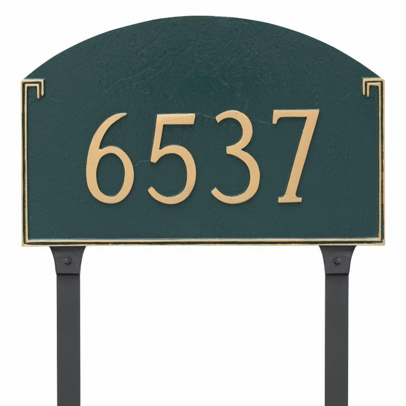 Montague Metal Georgetown Standard One Line Address Sign Lawn Plaque