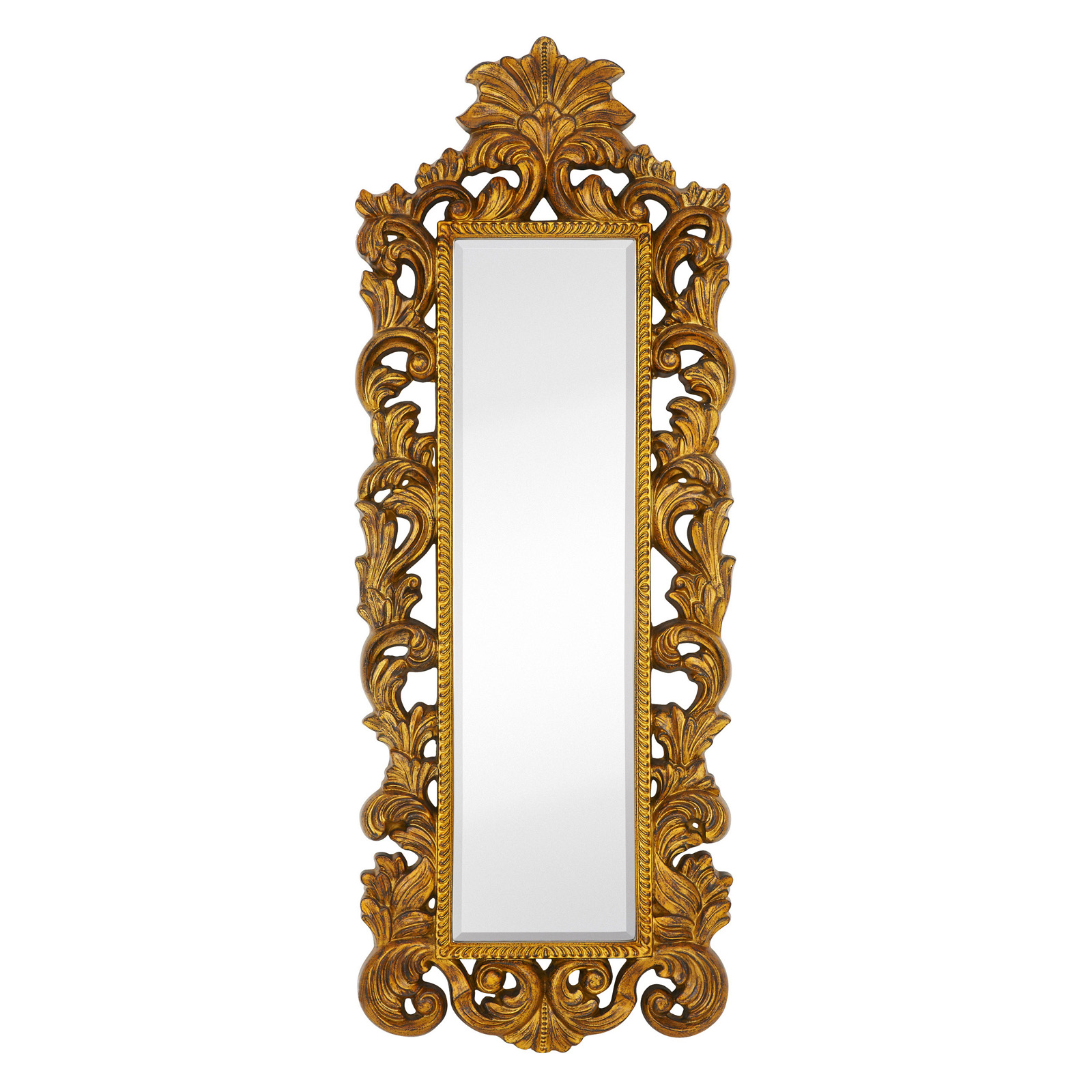Majestic tall narrow wall mirror mirrors at hayneedle for Narrow mirror