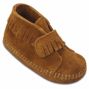 Minnetonka Infants Velcro Strap Bootie