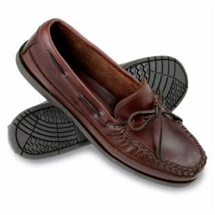 Minnetonka Mens Double Bottom Hardsole Moccasins