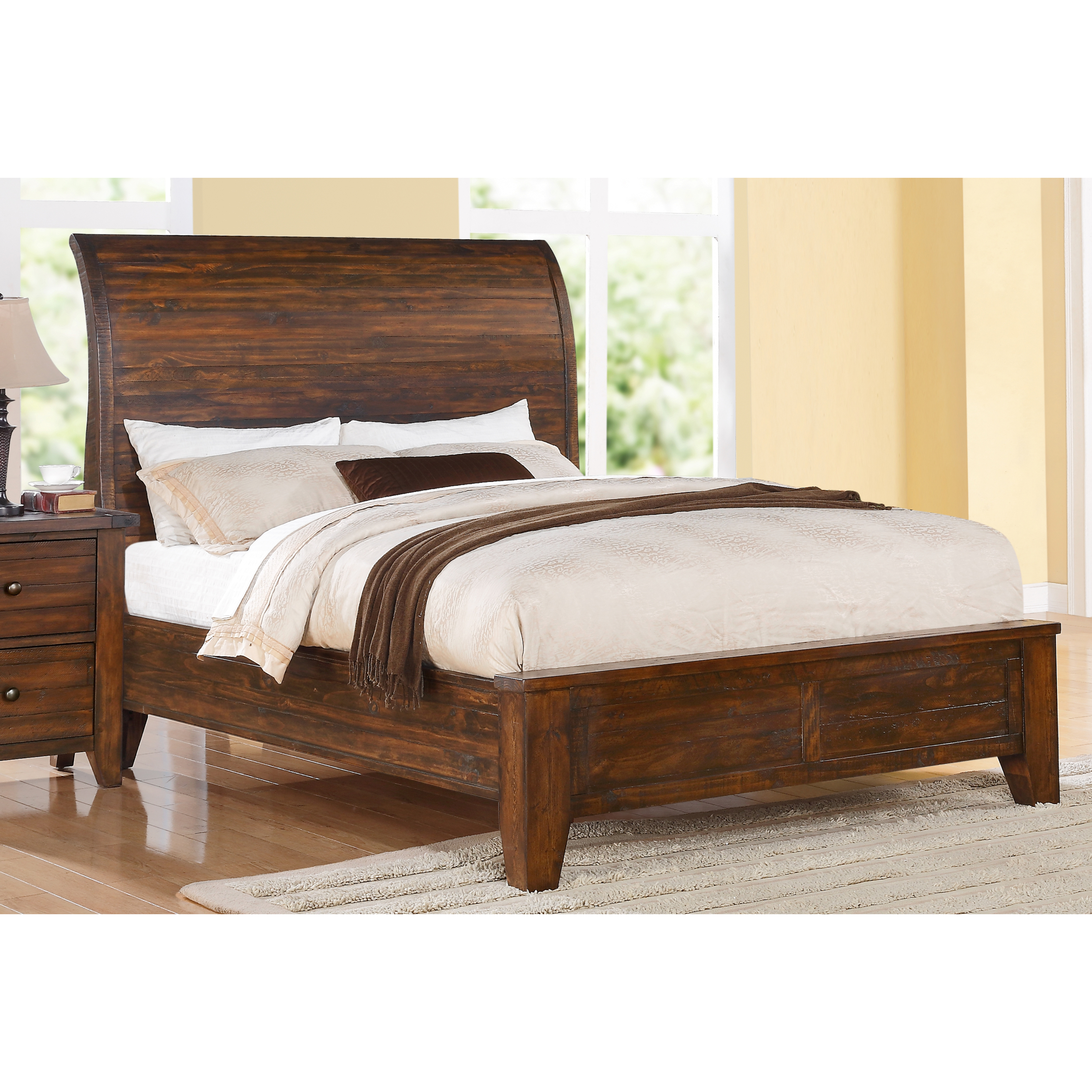 Cally solid wood bed beds at hayneedle