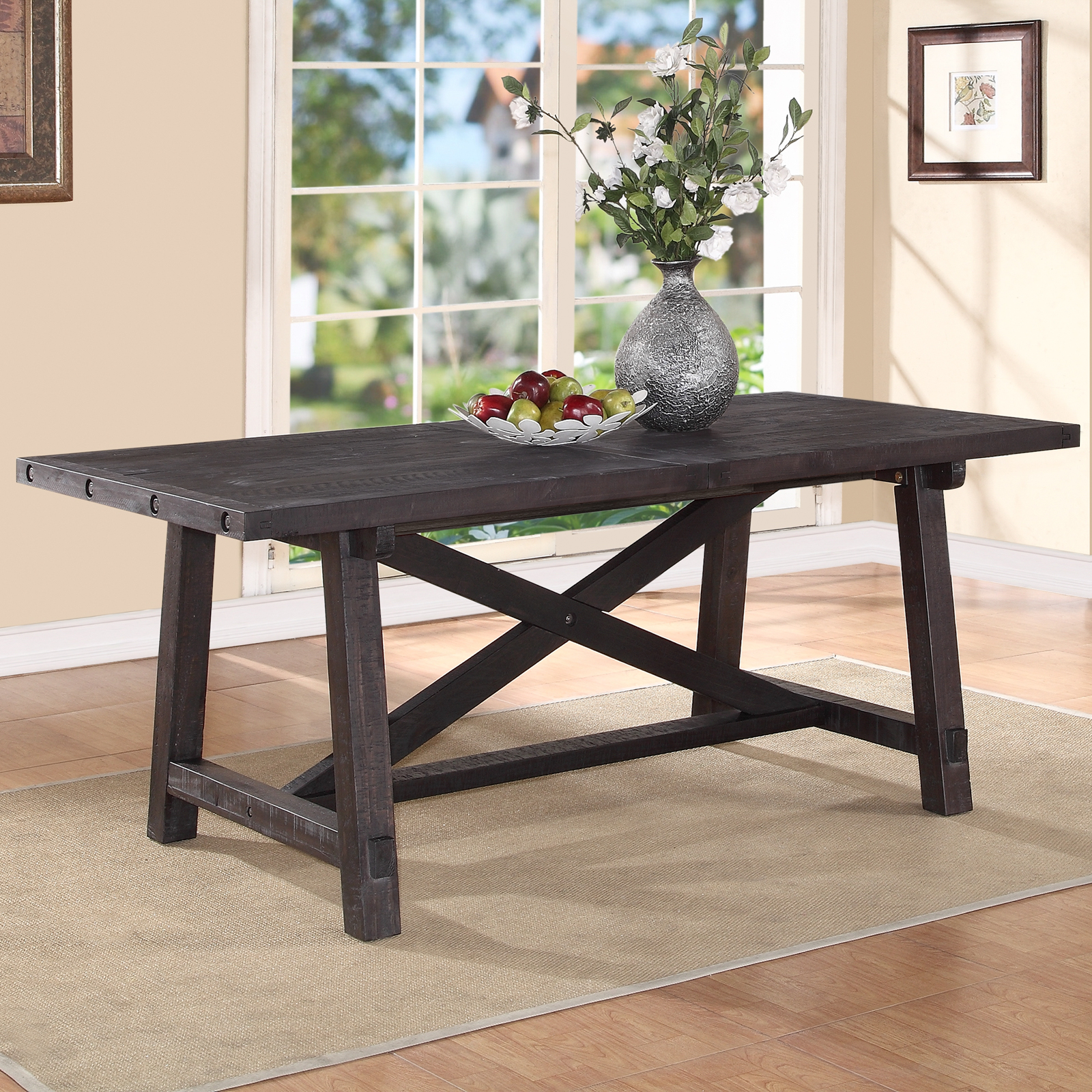 Modus Yosemite Solid Wood Rectangular Extension Table
