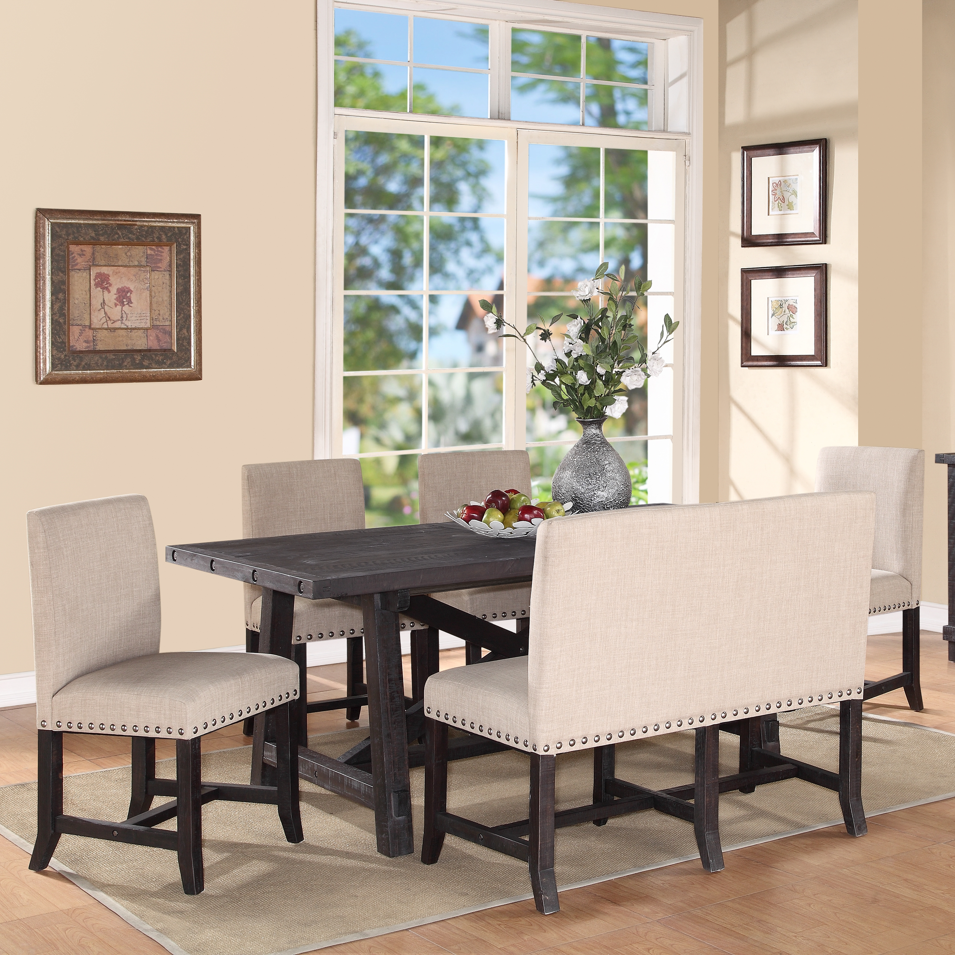 Modus Yosemite 6 Piece Rectangular Dining Table Set With