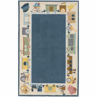 Lil&#39; Momeni Classic Circus Collection Area Rug - Baby Blue