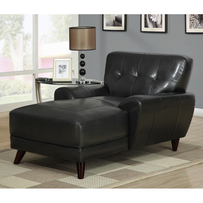 Master for Black chaise lounge indoor
