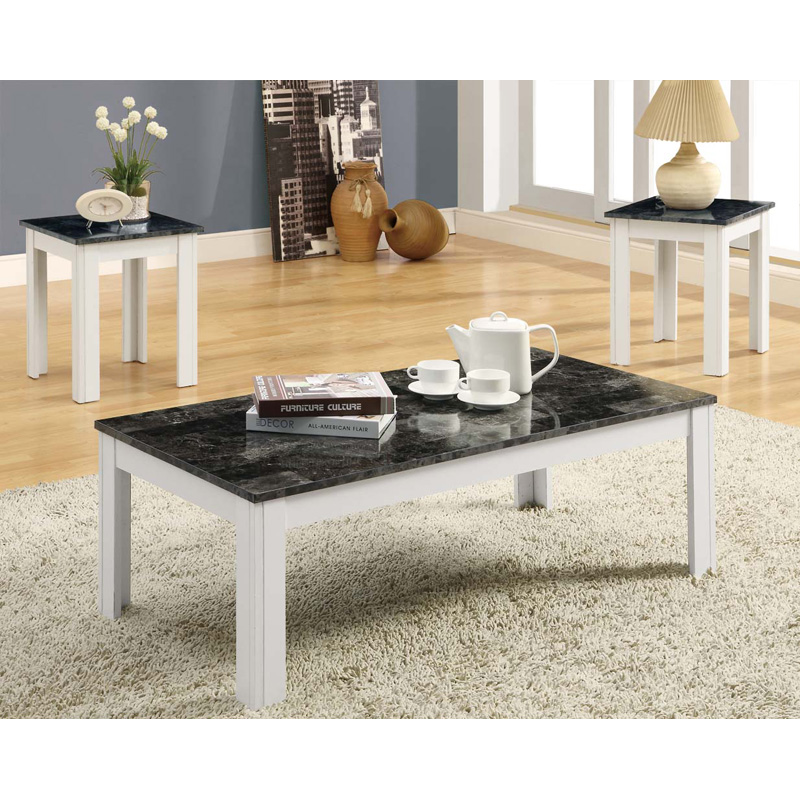 Monarch Promotional Rectangular White Wood Coffee Table