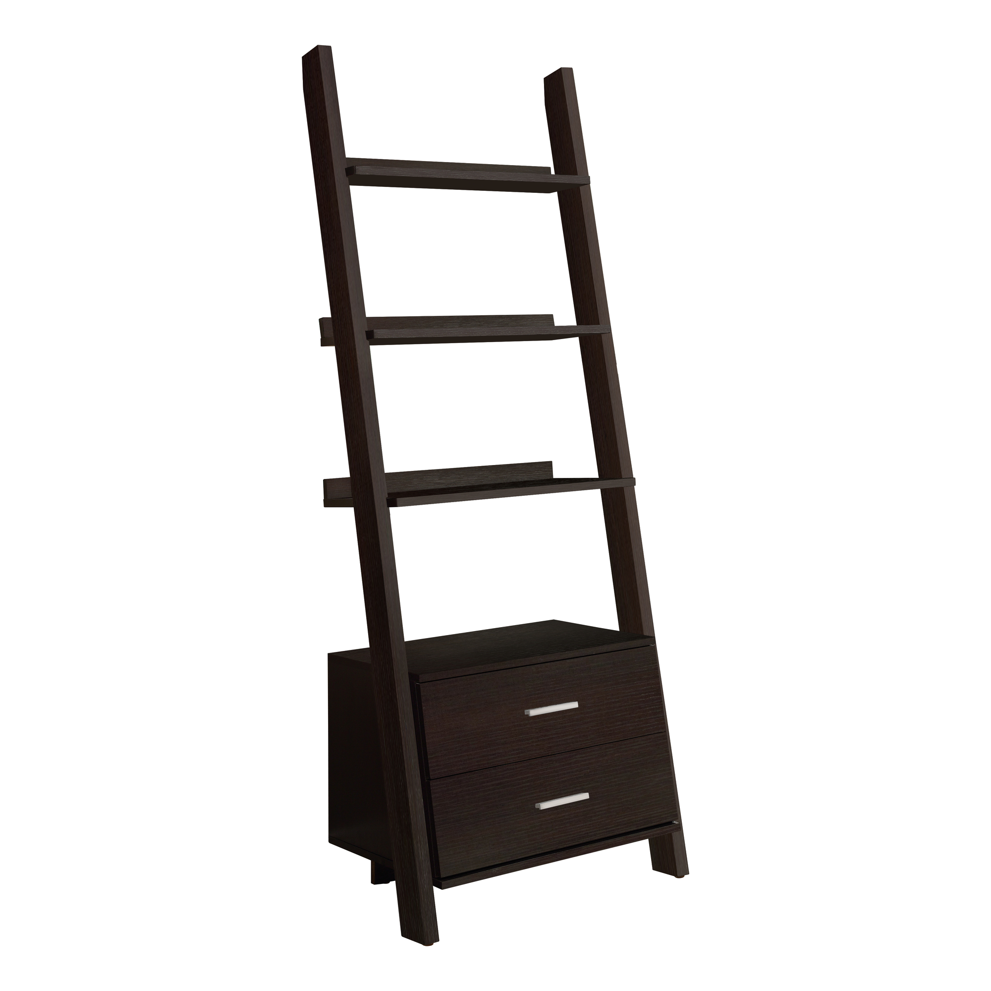 Leaning Ladder Bookcase Ladder Bookcase With 2 Storage