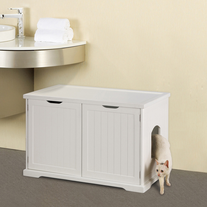 Merry Products Cat Washroom Bench Litter Boxes at Hayneedle