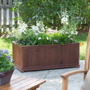 Coral Coast Aster Wood Patio Raised Planter Box