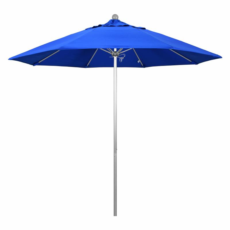 California Umbrella 9 ft. Fiberglass Market Umbrella Sunbrella Cocoa MPC071-44