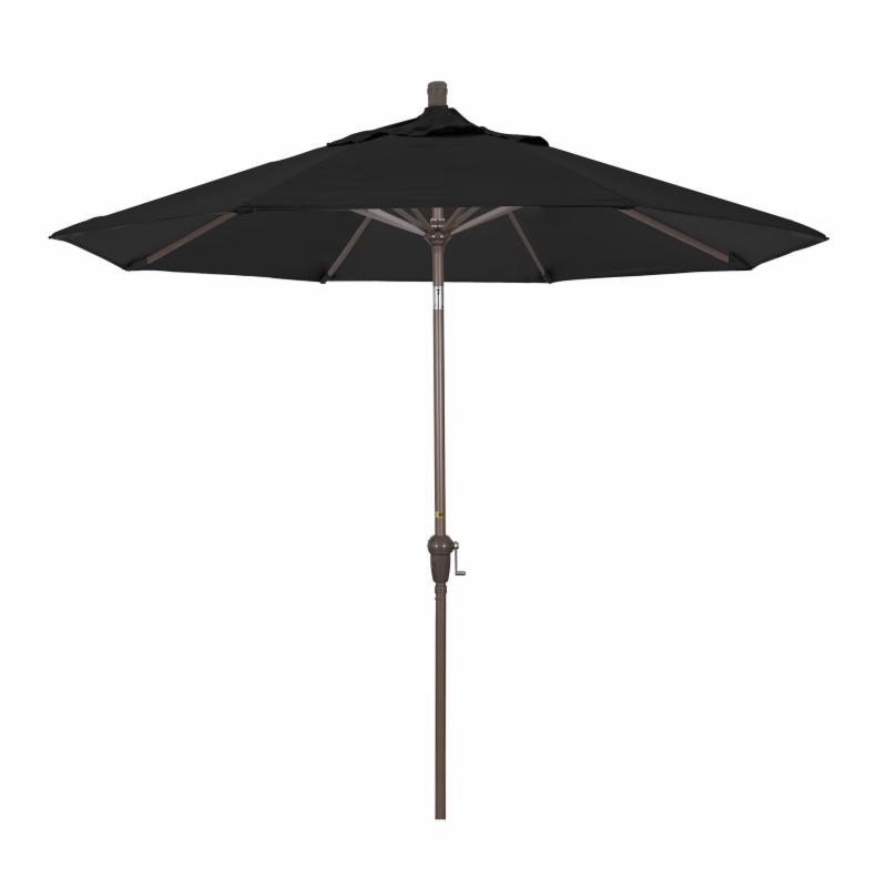 California Umbrella 9 ft. Sunbrella Aluminum Auto Tilt Market Umbrella Sunbrella Cocoa MPC105-8