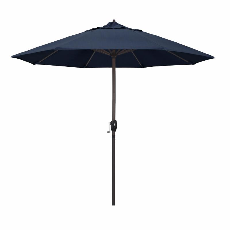 California Umbrella 9 ft. Sunbrella Designer Market Umbrella Cocoa MPC145-19
