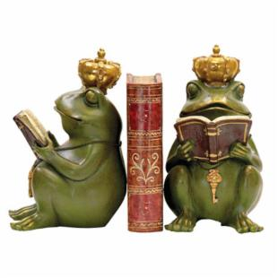 Pair of Noblest Frog Bookends