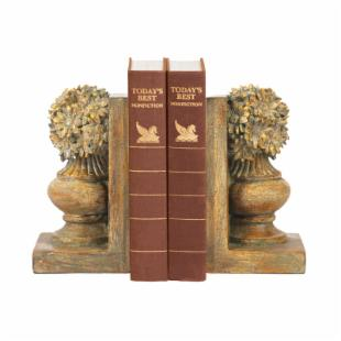 Sterling Industries Pair Floral Urn Bookends