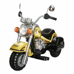 Harley Chopper-style Motorcycle Battery Powered Riding Toy - Yellow