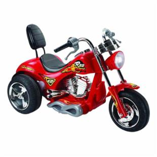 Red Hawk Motorcycle Battery Powered Riding Toy - Red