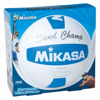  Mikasa Sand Champ Volleyball   White/Blue